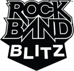 Box artwork for Rock Band Blitz.