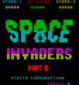Space Invaders Part II title screen.png