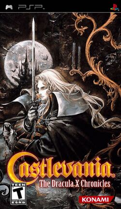 Box artwork for Castlevania: The Dracula X Chronicles.