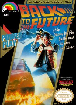 Box artwork for Back to the Future.
