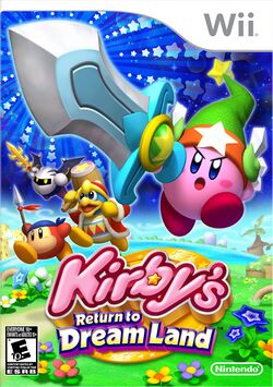 Box artwork for Kirby's Return to Dream Land.
