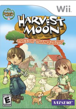 Box artwork for Harvest Moon: Tree of Tranquility.