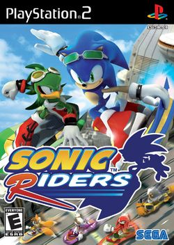Box artwork for Sonic Riders.