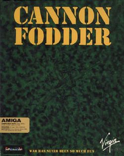 Box artwork for Cannon Fodder.
