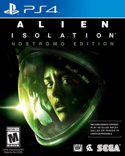 Box artwork for Alien: Isolation.