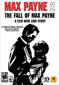 Box artwork for Max Payne 2: The Fall of Max Payne.