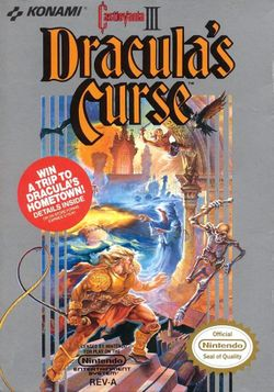 Box artwork for Castlevania: Castlevania III: Dracula's Curse.