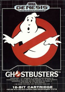 Box artwork for Ghostbusters (1990).