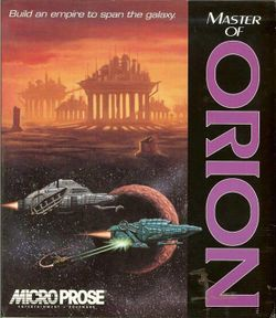 Box artwork for Master of Orion.