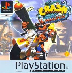 Box artwork for Crash Bandicoot: Warped.