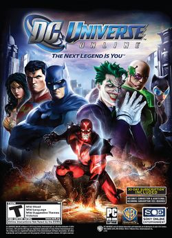 Box artwork for DC Universe Online.