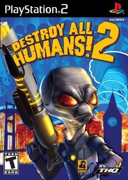 Box artwork for Destroy All Humans! 2.