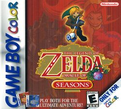 Box artwork for The Legend of Zelda: Oracle of Seasons.