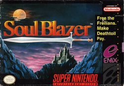 Box artwork for Soul Blazer.