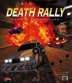 Box artwork for Death Rally.