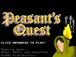 Box artwork for Peasant's Quest.
