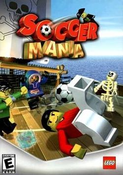 Box artwork for Soccer Mania (2002).