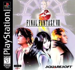 Box artwork for Final Fantasy VIII.