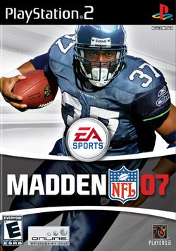 Box artwork for Madden NFL 07.