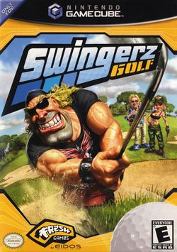 Box artwork for Swingerz Golf.