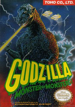 Box artwork for Godzilla: Monster of Monsters.