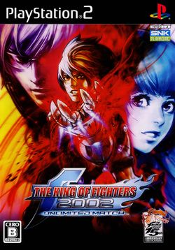 Box artwork for The King of Fighters 2002 Unlimited Match.
