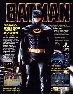 Box artwork for Batman (Arcade).
