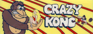 Crazy Kong marquee