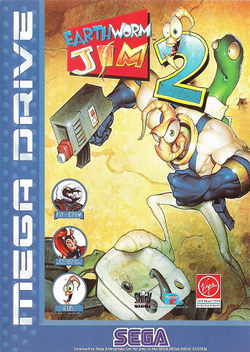 Box artwork for Earthworm Jim 2.