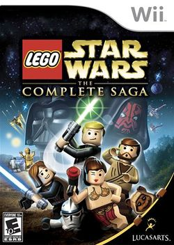 Box artwork for LEGO Star Wars: The Complete Saga.