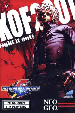 Box artwork for The King of Fighters 2001.