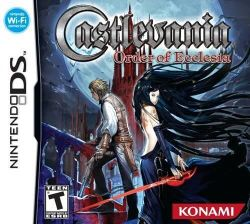Box artwork for Castlevania: Order of Ecclesia.