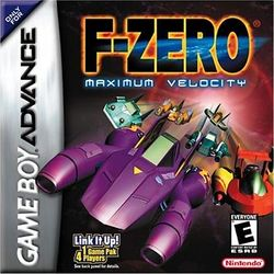 Box artwork for F-Zero: Maximum Velocity.