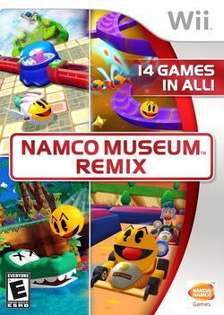 Box artwork for Namco Museum Remix.