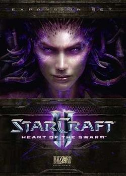 Box artwork for StarCraft II: Heart of the Swarm.