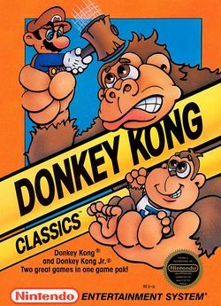 Box artwork for Donkey Kong.