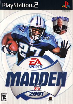 Box artwork for Madden NFL 2001.