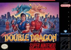 Box artwork for Super Double Dragon.