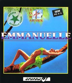 Box artwork for Emmanuelle: A Game of Eroticism.