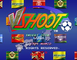 Box artwork for J-League Soccer V-Shoot.