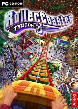 Box artwork for RollerCoaster Tycoon 3.