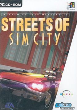 Box artwork for Streets of SimCity.