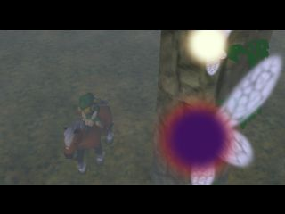 Tatl and Wael watch over Link riding Epona.