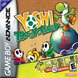 Box artwork for Yoshi Topsy-Turvy.