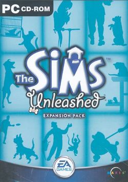 Box artwork for The Sims: Unleashed.