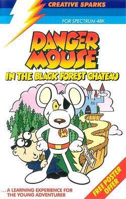 Box artwork for Danger Mouse in the Black Forest Chateau.