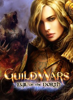 Box artwork for Guild Wars Eye of the North.