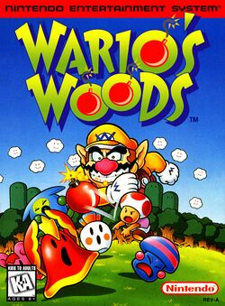 Box artwork for Wario's Woods.
