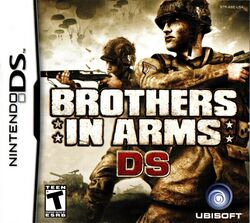 Box artwork for Brothers in Arms DS.