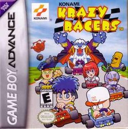 Box artwork for Konami Krazy Racers.